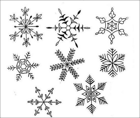 embroidery snowflake ideas