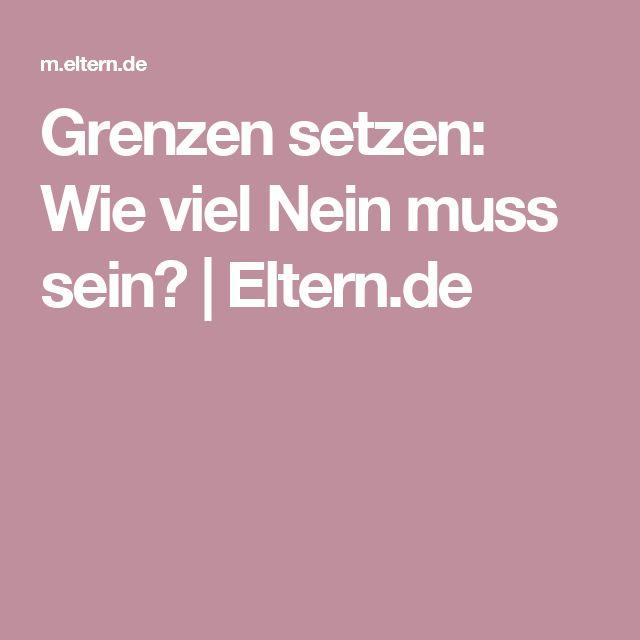Grenzen setzen: Wie viel Nein muss sein?    Eltern.de