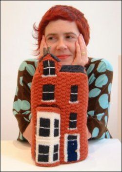 Knitted murderers houses by Freddie Robins