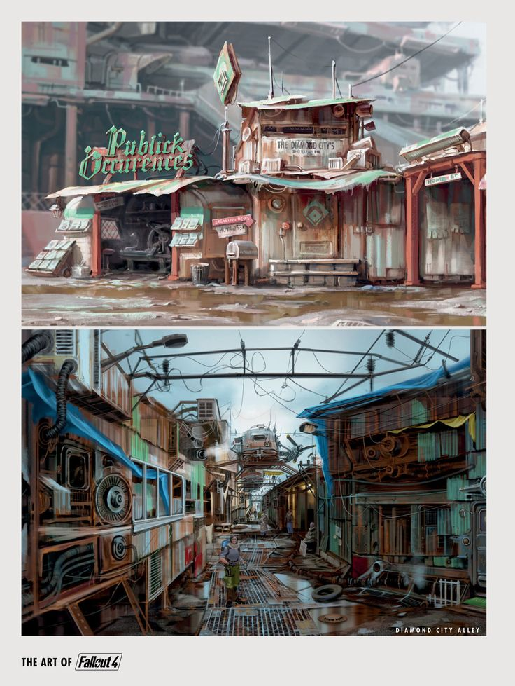 Fallout 4 | Concept Puclick Occurences & Diamond City Alley