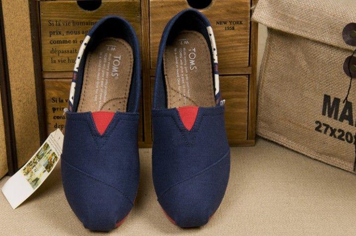 #Toms Womens Canvas Shoes Blue #UK Flag  |toms shoes outlet