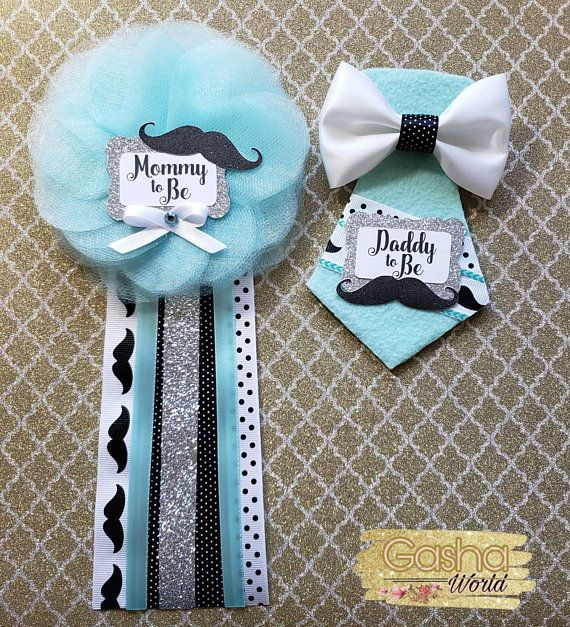 Little Man Baby Shower Corsage Mommy To Be Daddy To Be Grandma