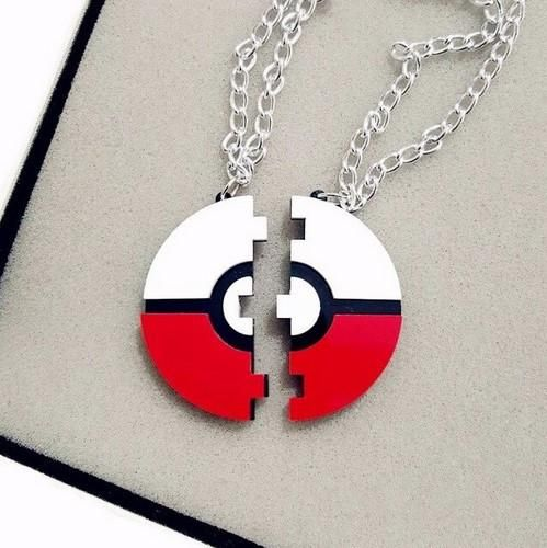 2016 New Pokemon GO Game Pokeball Pendant Necklace Must have Couples Necklace Laser Cut Acrylic Jewelry