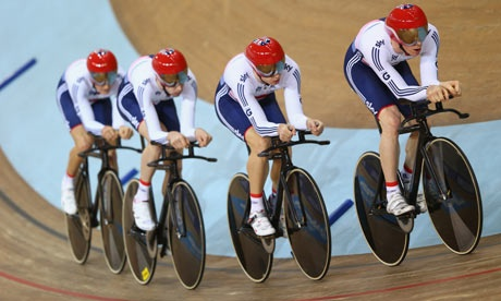 Ed Clancy led Great Britain to second place in men's team pursuit at the first day of the World Track Cycling Championships in Belarus