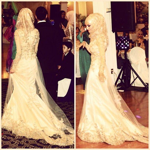 Beautiful hijabi bride! Instagram photo by @marro07 (Mariam) | Statigram ❤ hijab style