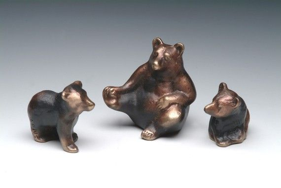 Mama Bear and Cubs Case Bronze Family of Bears Small by Nelles, $80.00