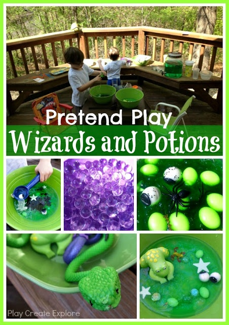 """Play Create Explore play Wizards & Potions ("""",)"""