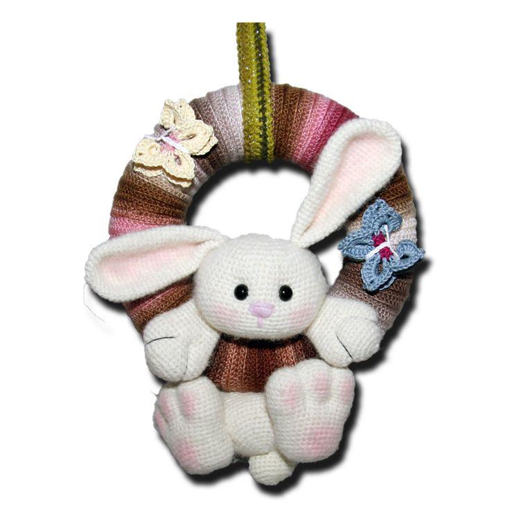 Türkranz  kostenlose Anleitung Hase Ostern Auf der Seite gibt es auch noch eine Variante für Hund und Katze