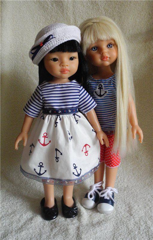 Опять морская тема / Одежда и обувь для кукол - своими руками и не только / Бэйбики. Куклы фото. Одежда для кукол