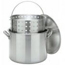 CRAWFISH POT 80 Qt. Stockpot w/Lid & Basket- Aluminum  $145.95