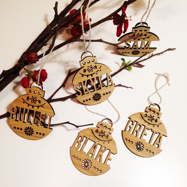 Christmas Personalised Name Ornaments