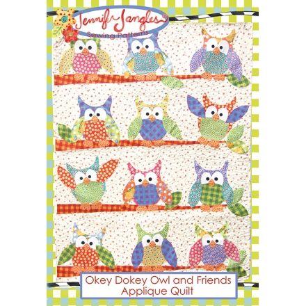 Okey Dokey Owl and Friends Applique Quilt Pattern | Jennifer Jangles