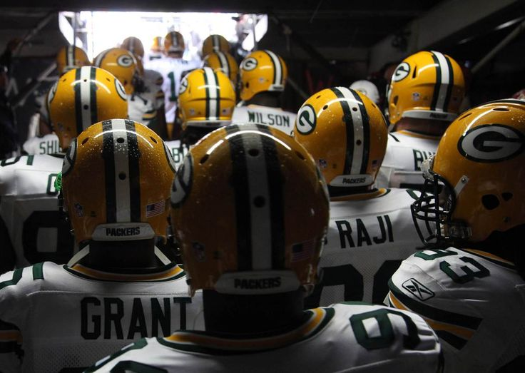 Packed and ready. The Green Bay Packers prepare to enter the stadium