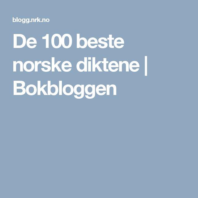 De 100 beste norske diktene | Bokbloggen