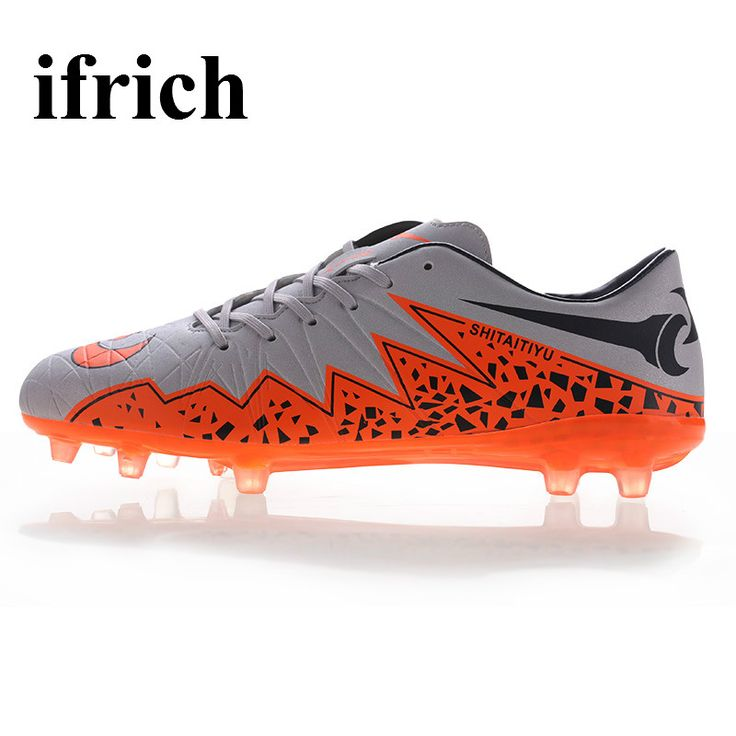 Kids Football Trainers Gray/Blue Football Boots Men's Soccer Sneaker Damping Turf Football Shoes New Football Cleats For Cheap