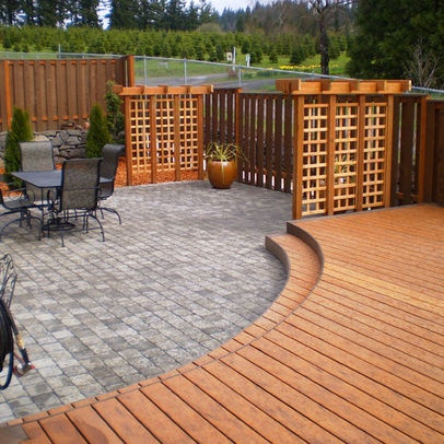 Wooden privacy screen privacy screens hardscaping for Wood patio privacy screens