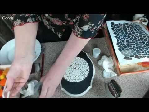 Имитация объёмной мозаики Наталья Большакова Университет Декупажа - YouTube