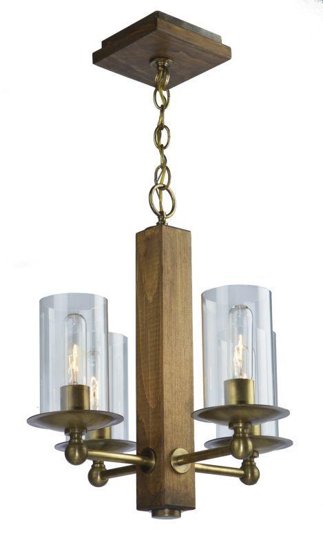 Artcraft Lighting AC10144 Legno Rustico 4 Light 1 Tier Mini Chandelier Burnished Brass Indoor Lighting Chandeliers