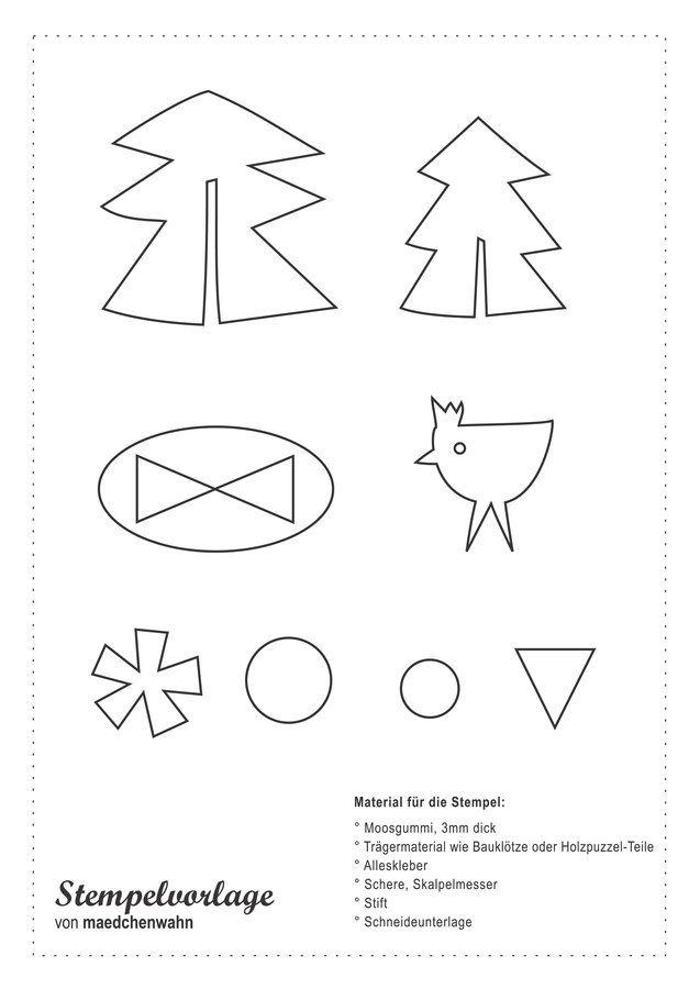 Weihnachtskarten Bedrucken.Papier Und Weihnachtskarten Mit Selber Gemachtem Stempel Bedrucken