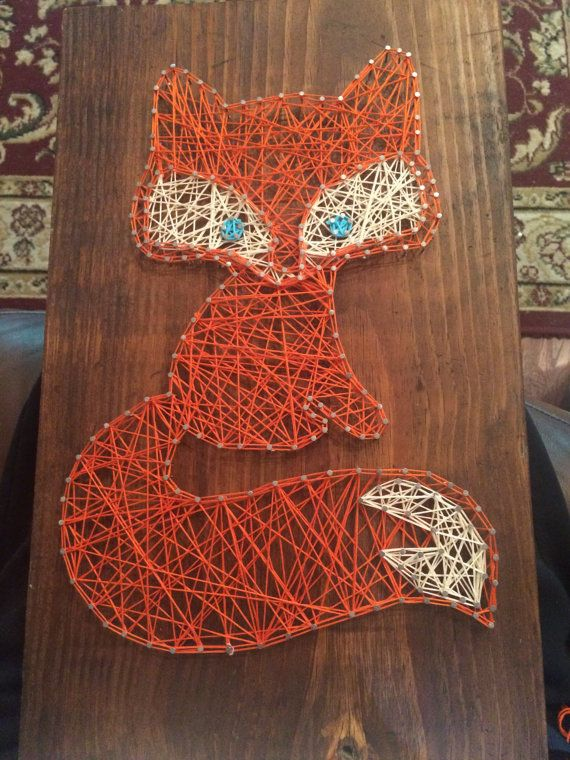 Fox Nail and String Art by KaiannaKreations on Etsy