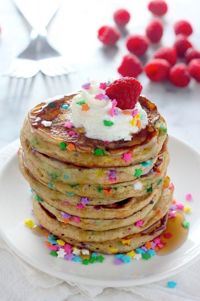 Healthy Greek Yogurt Confetti Pancakes