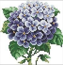 Counted Cross Stitch Kit Purple Hydrangea Needlework Craft Kit CR1381