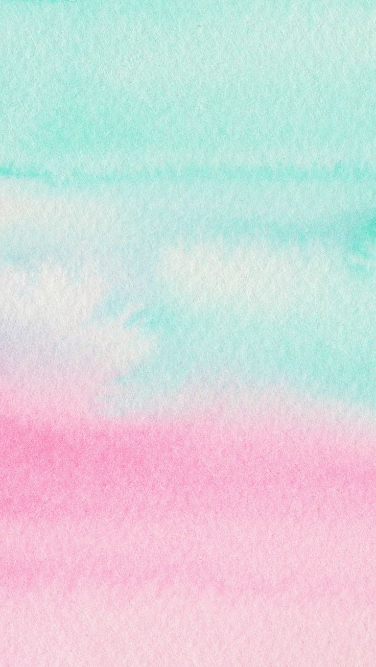 Mint Aqua pink watercolour ombre texture iphone wallpaper ...