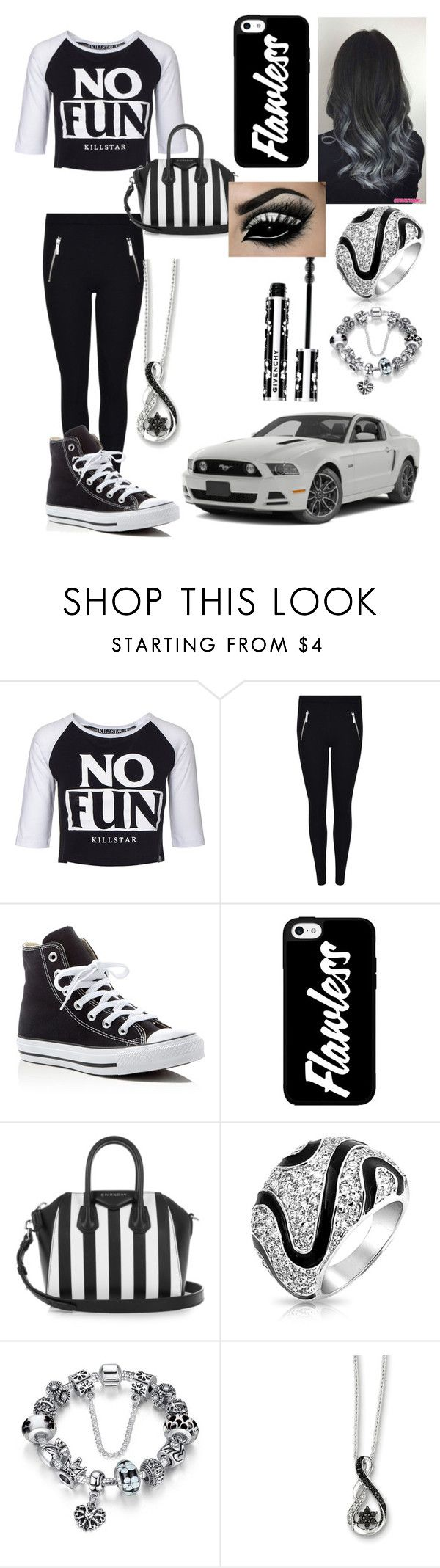 """""""Girl from the hood be like"""" by tray-tray2 ❤ liked on Polyvore featuring Killstar, MICHAEL Michael Kors, Converse, Givenchy and Bling Jewelry"""