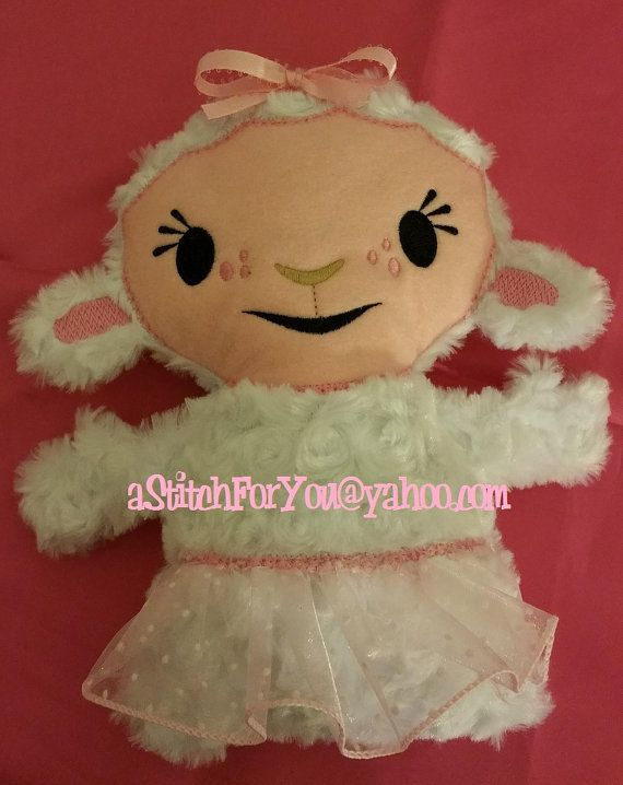 LaMB Easter Lil Bit Doll Ice Queen 3D Plush Softie ITH (In the Hoop) Stuffed Baby - INSTANT Download Machine Embroidery Design by Carrie