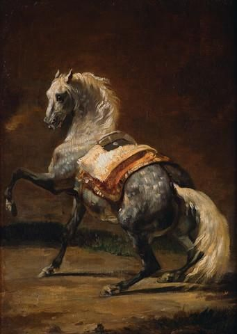 Dappled Grey Horse by Theodore Gericault : Custom Wall Decals, Wall Decal Art, and Wall Decal Murals | WallMonkeys.com