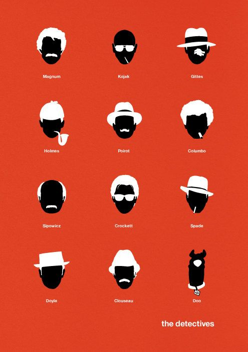 Movie poster TV Detectives art print : {Black & Red : for Sony Vaio E Series notebooks : www.sony.com.au }