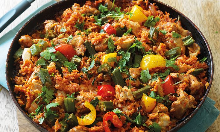 A popular West African dish that's cooked in one pot so ideal for a simple, tasty midweek dinner.