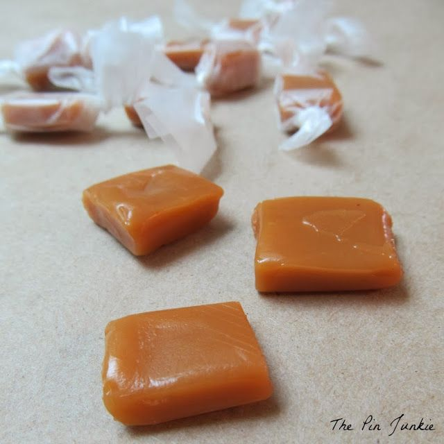 Easy to make homemade old-fashioned caramels.  No candy thermometer needed.
