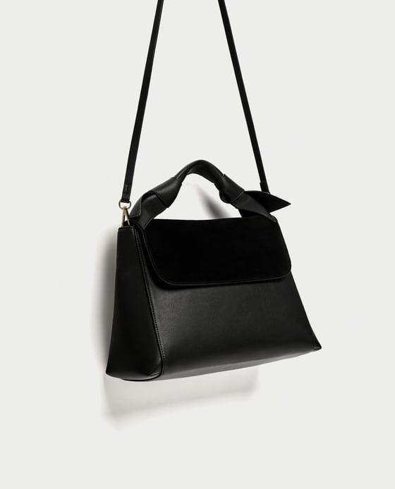 abb0053d8c ZARA - WOMAN - CITY BAG WITH KNOTS AND LEATHER DETAIL
