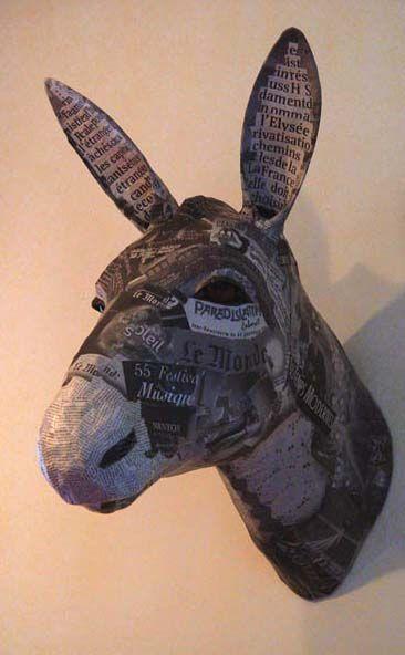 Les trophées de chasse en papier mâché de Nicole Jacobs et Aude Goalec | Le Blog du Kitsch