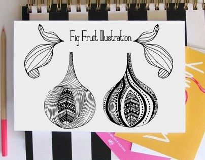 """Check out new work on my @Behance portfolio: """"Illustration with fig fruits"""" http://be.net/gallery/28863345/Illustration-with-fig-fruits"""