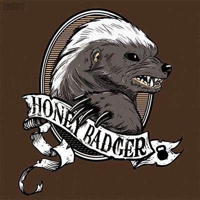 Honey Badger awesome tattoo  like this but he had to have a hat and pipe