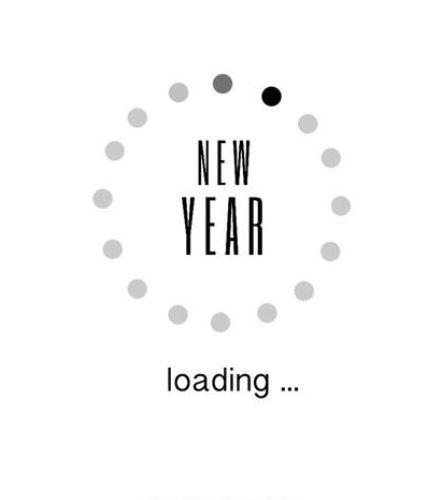 "Happy new year quotes in english for the year 2017 is ready to share with your family and friends on FB,whatsapp,Pinterest and Instagram.The sms reads ""New Year Loading."""