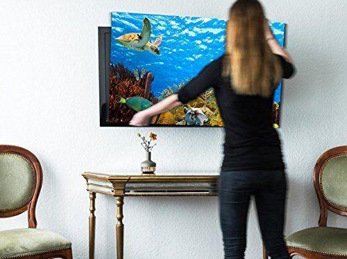 screencover TV Abdeckung Korallenriff Unterwasserwelt #Flatscreen-Schutz #Deko #TV Hülle #Fernseh Cover #Fische #Aquarium