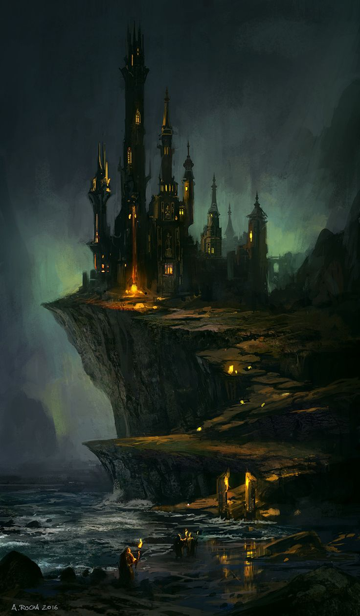 Wizard's Castle, Andreas Rocha on ArtStation at https://www.artstation.com/artwork/Kzdwy