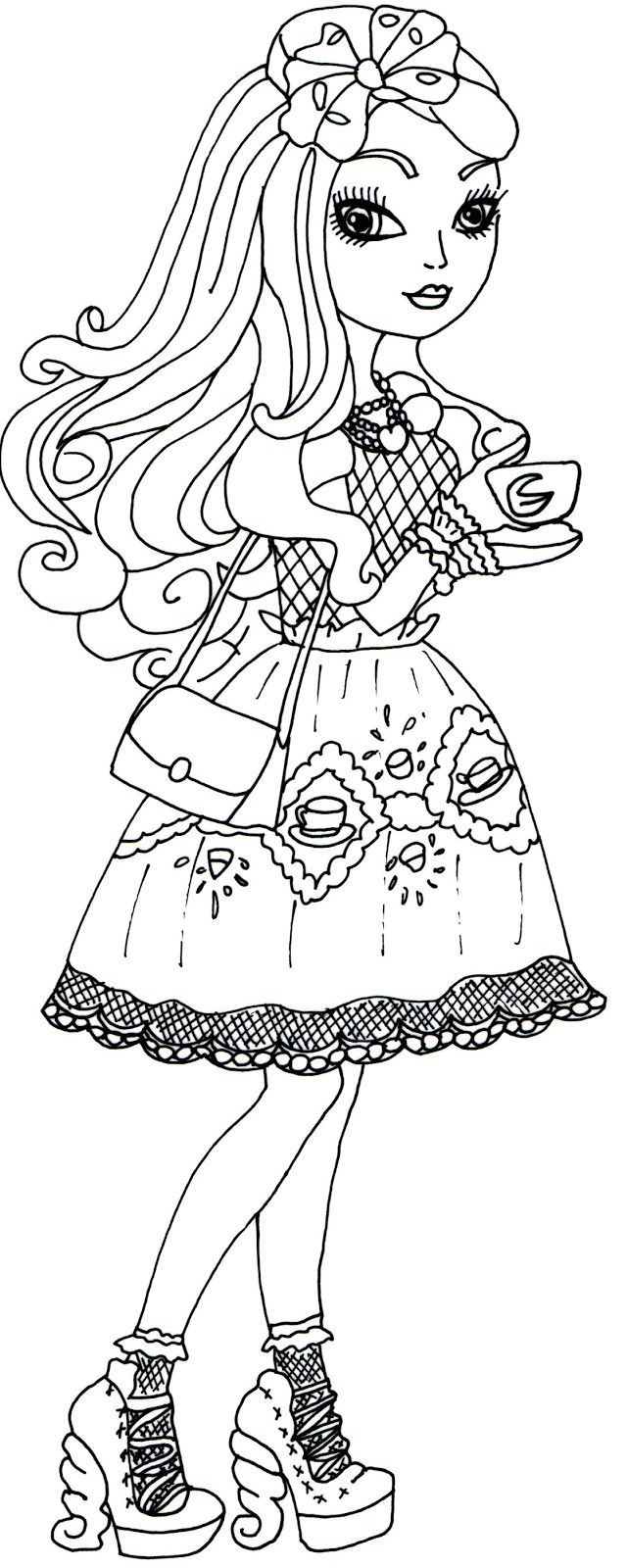 Ever after high coloring games online - Free Printable Ever After High Coloring Pages Apple White