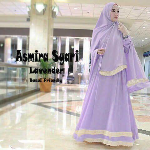 Gamis Syar'i Modern ASMIRA LAVENDER - http://warongmuslim.com/gamis-syari/gamis-syari-modern-asmira-lavender/