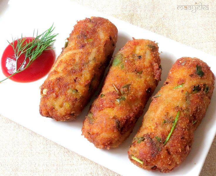 Maayeka - Authentic Indian Vegetarian Recipes: Spaghetti Rolls