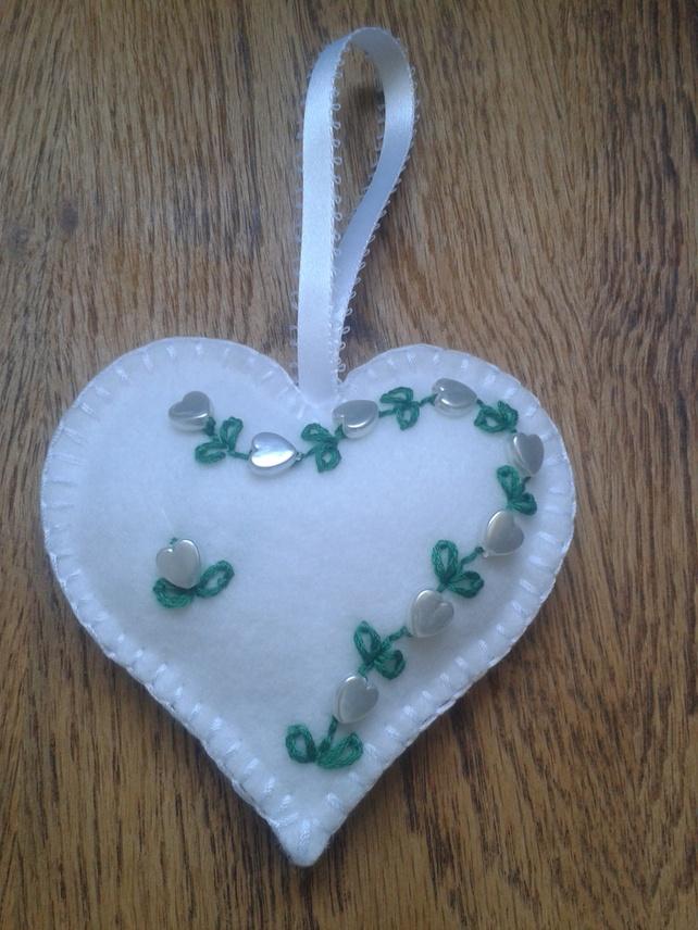 Handmade Love Heart Shabby Chic £5.00