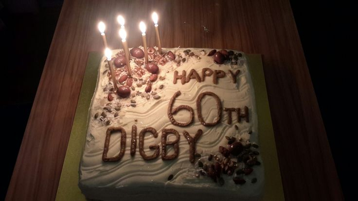 """12"""" carrot cake for my Brothers 60th."""