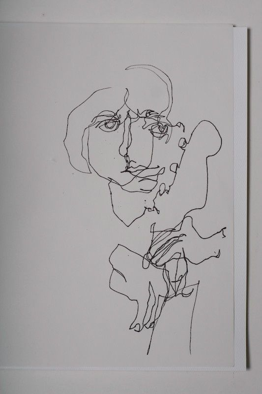 Blind Contour Line Drawing Face : Best wire and continuous line contour faces images on