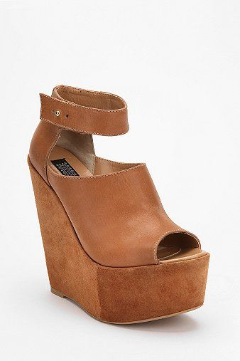 Deena & Ozzy Suede & Leather Extreme Platform Wedge    $79