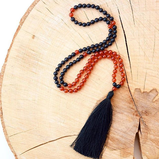 Creativity takes courage ~ Henri Matisse. Shop our 'I am Creative' Mala necklace or other offerings following the link in bio.  #mala #mindbeads #handmade #handknotted #creative #grounding #courage #yogi #boho #bohochic #zen #yoga #meditation #instagood #jewelry #india #buddhism