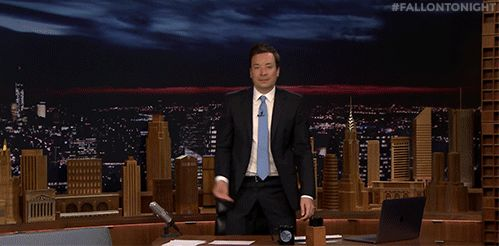 New party member! Tags: jimmy fallon nbc tonight show talk to the hand