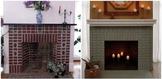 les 25 meilleures id es de la cat gorie chemin e en brique relooking sur pinterest mise jour. Black Bedroom Furniture Sets. Home Design Ideas